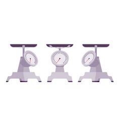 Kitchen metal scales vector