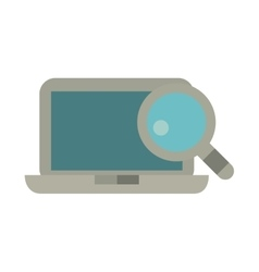 laptop technology search design vector image