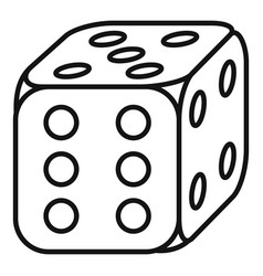 Lucky dice icon outline style vector
