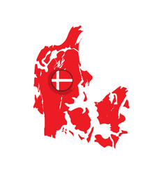 Map of denmark with a label vector
