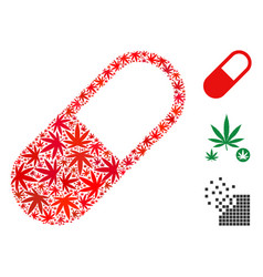 medication granule composition of marijuana vector image