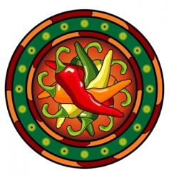 Mexican hot chili logo vector image