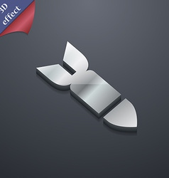 Missilerocket weapon icon symbol 3d style trendy vector