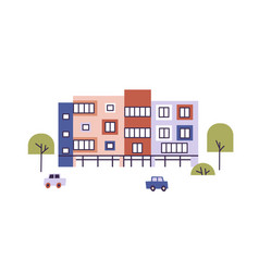 Modern kindergarten or nursery preschool building vector
