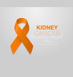 national kidney cancer awareness month orange vector image