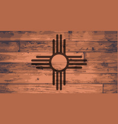 new mexico state flag brand vector image
