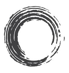 Paint brush circle stroke abstract vector