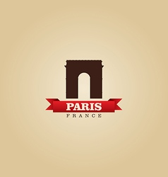 paris france city symbol vector image