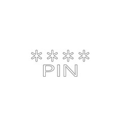 pin code flat icon vector image