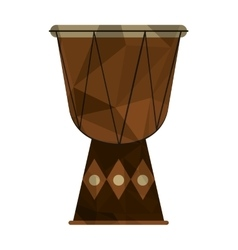 polygon texture djembe icon vector image