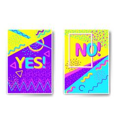 Poster templates memphis stile vector