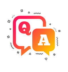question answer sign icon qa symbol vector image