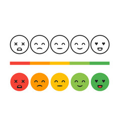 rank level of satisfaction rating feedback vector image