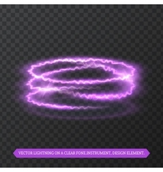 Realistic effect of lightning vector image
