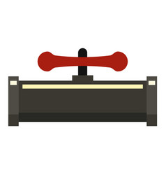 red valvepipe icon flat style vector image