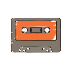 retro cassette icon vector image