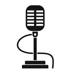 retro microphone icon simple style vector image