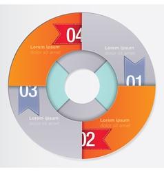 Round Infographic vector