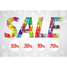 sale banner polygon pattern style vector image