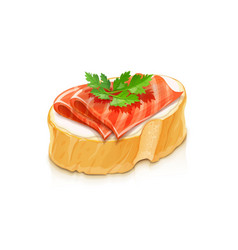 Sandwich with red fish vector
