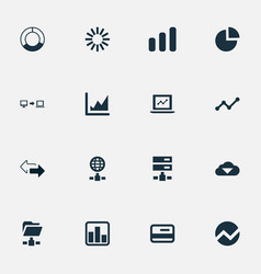 Set simple analysis icons vector