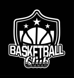 shield badge or emblem basketball modern vector image