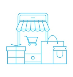 shopping and festival icon vector image