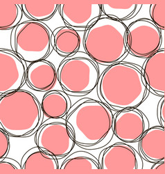 sketch child round seamless pink pattern vector image