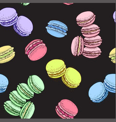sketch macaron vector image