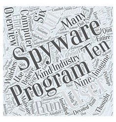 Spyware Overview Word Cloud Concept vector