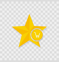 star icon shopping cart icon vector image