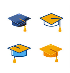 students cap icon sign education vector image