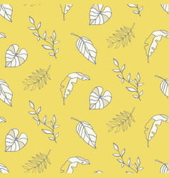 summer background tropical leaves pattern vector image