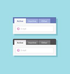 Tabs ui design or tabbed menu website set vector