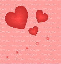 The heart and the inscription seamless I love you vector image