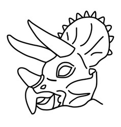 triceratops icon doodle hand drawn or black vector image