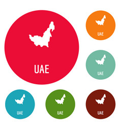 Uae map in black simple vector