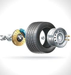 Wheel Parts vector image