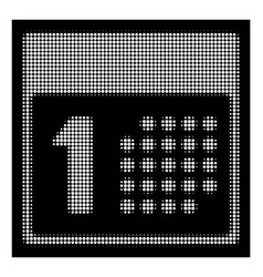 white halftone first day icon vector image