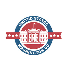 White house icon vector
