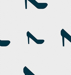 woman shoes icon sign Seamless pattern with vector image