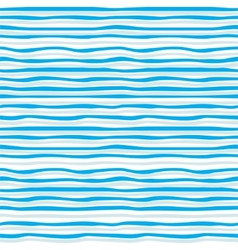 Abstract blue wave seamless pattern vector image