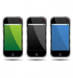 cell phones vector image vector image