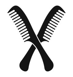 Combs icon simple style vector image
