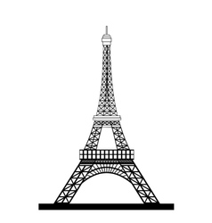 Eiffel Tower Black Silhouette vector image vector image
