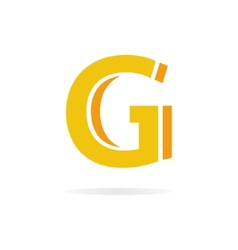 Logo G letter for company design template vector image vector image