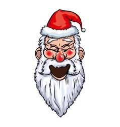 Santa claus laughing head vector