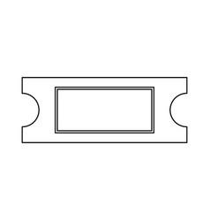 ticket black color path icon vector image vector image