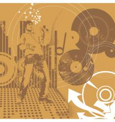 urban music guy vector image vector image