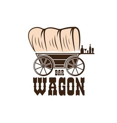 wagon western bar concept design template vector image